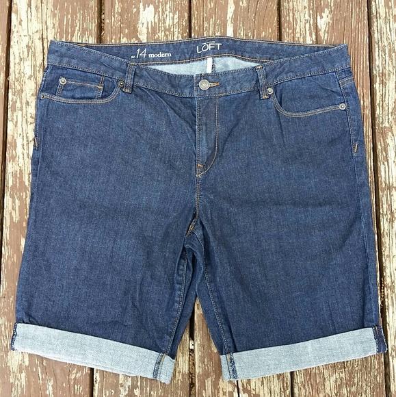 LOFT Pants - Ann Taylor LOFT Bermunda Jean Shorts